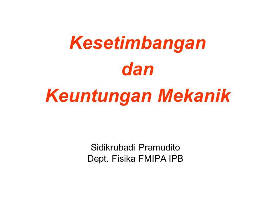 Sidikrubadi Pramudito Dept. Fisika FMIPA IPB
