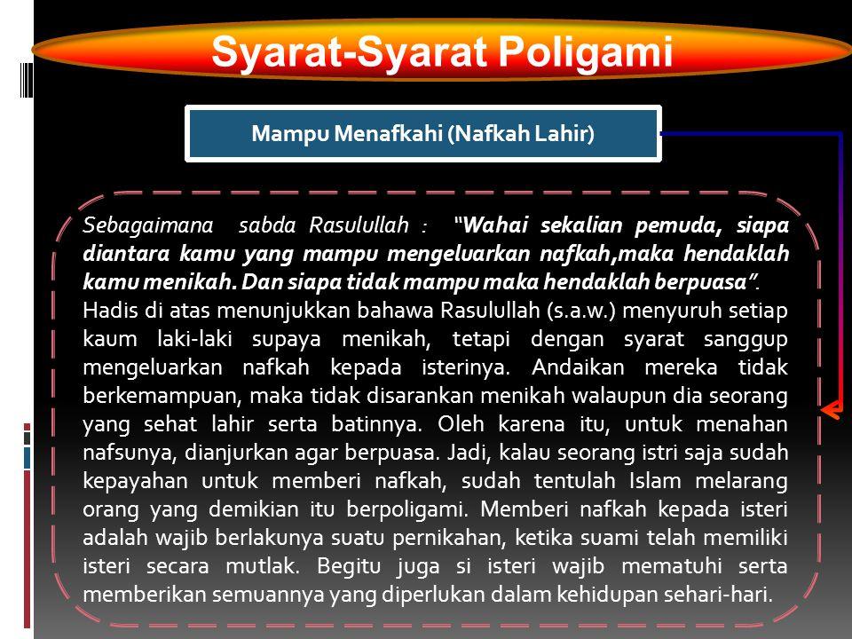 Syarat-Syarat Poligami Mampu Menafkahi (Nafkah Lahir)