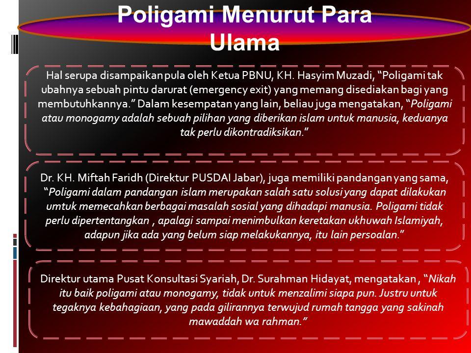 Poligami Menurut Para Ulama