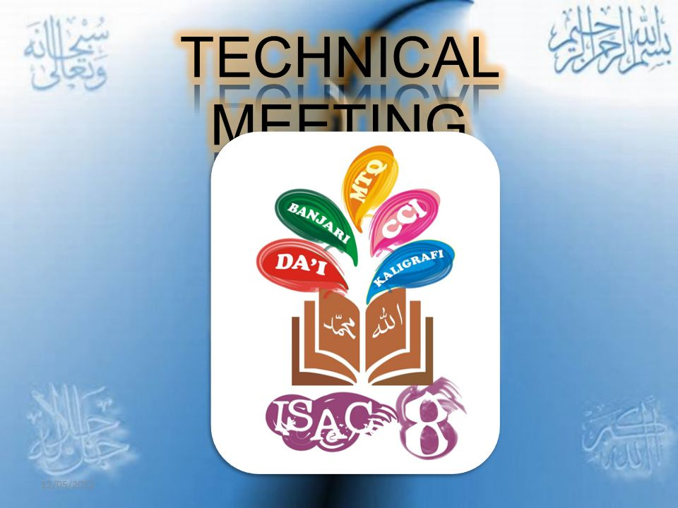 TECHNICAL MEETING 12/05/2012