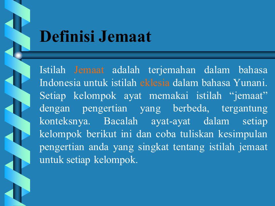 Definisi Jemaat
