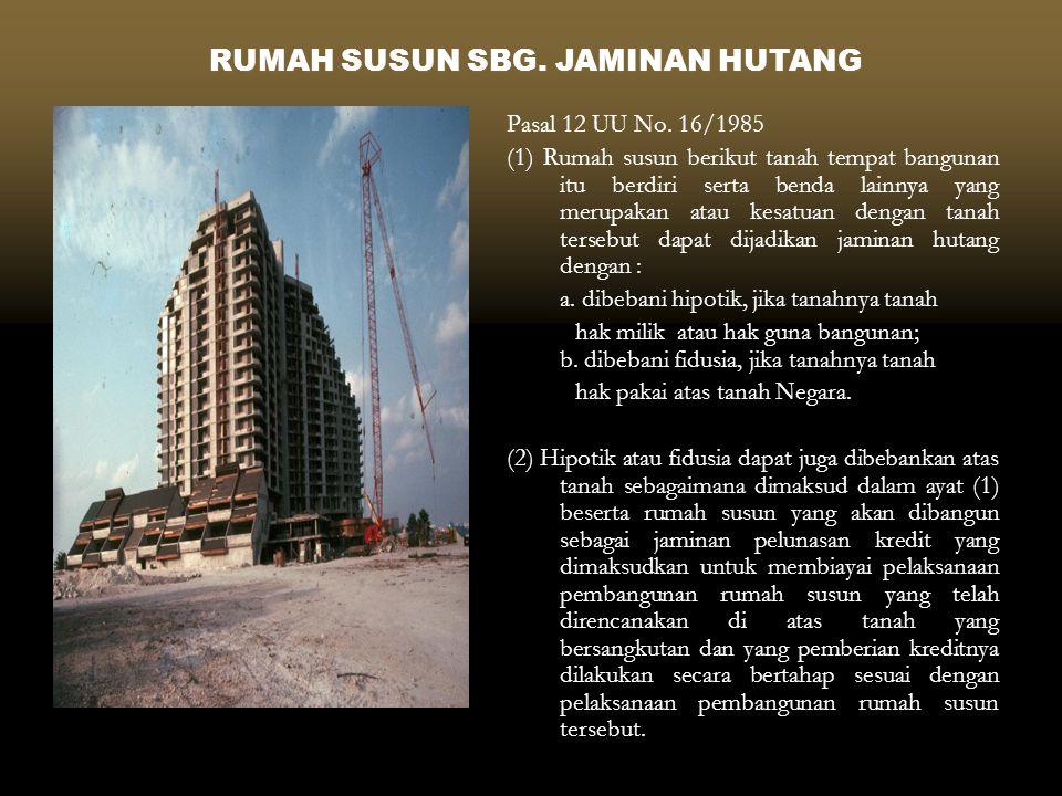 RUMAH SUSUN SBG. JAMINAN HUTANG