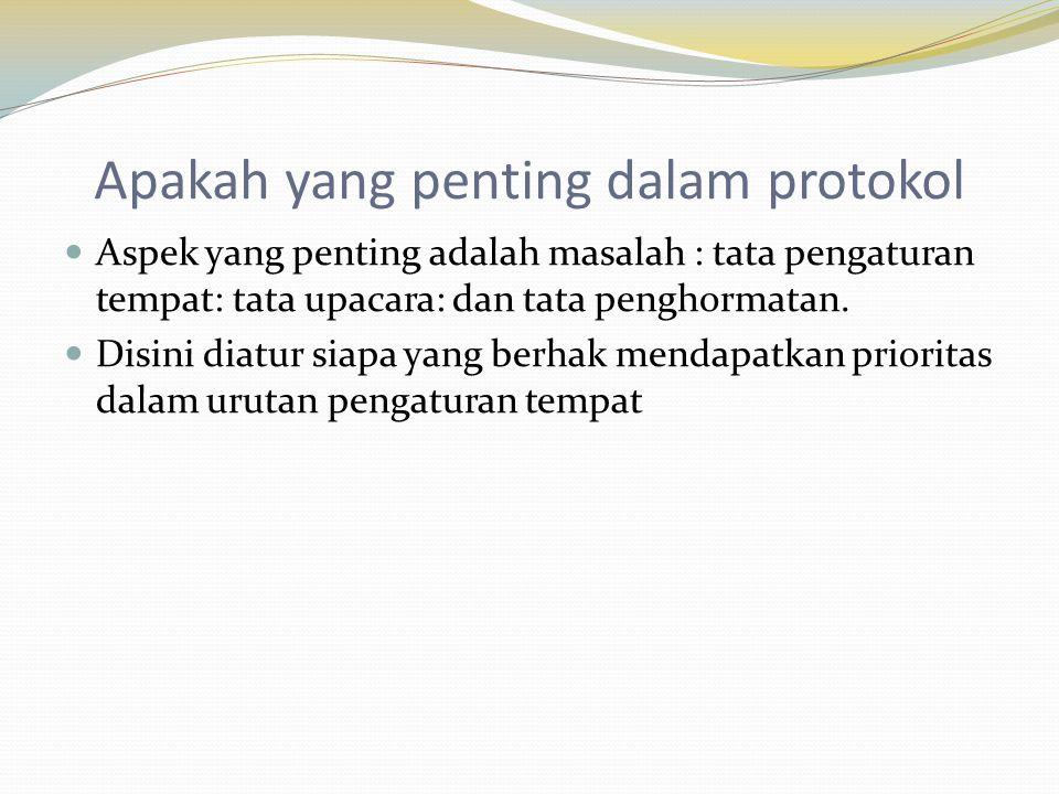 Apakah yang penting dalam protokol