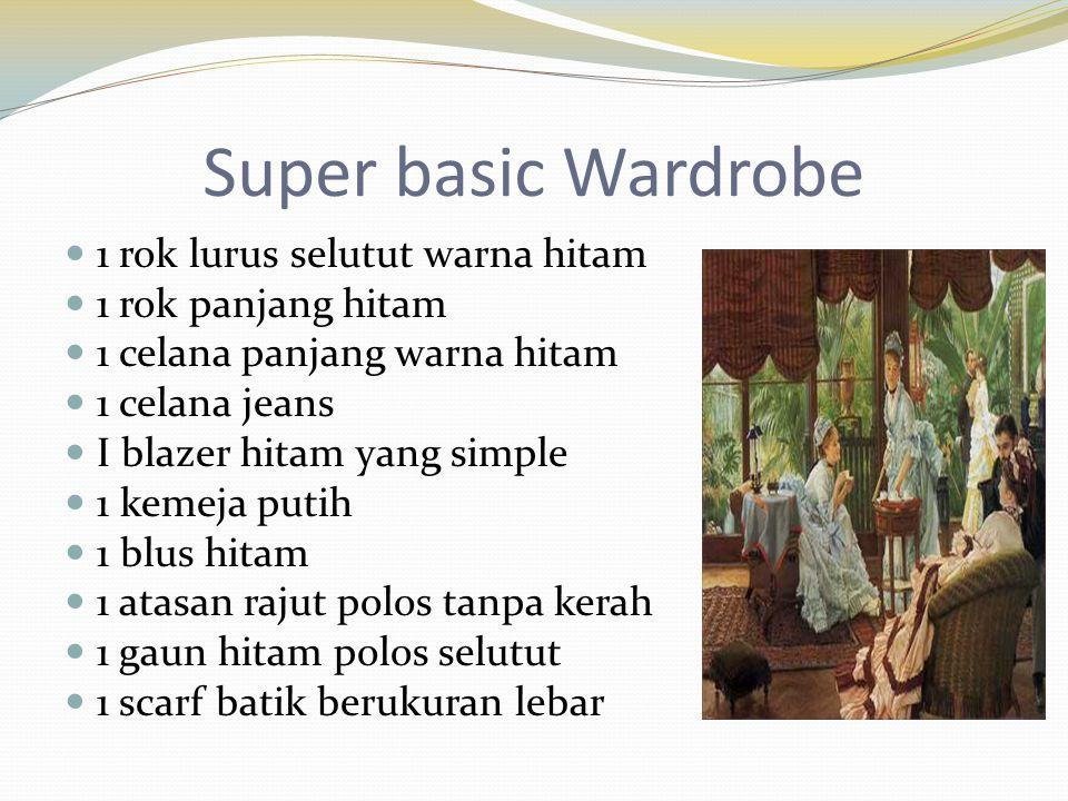 Super basic Wardrobe 1 rok lurus selutut warna hitam