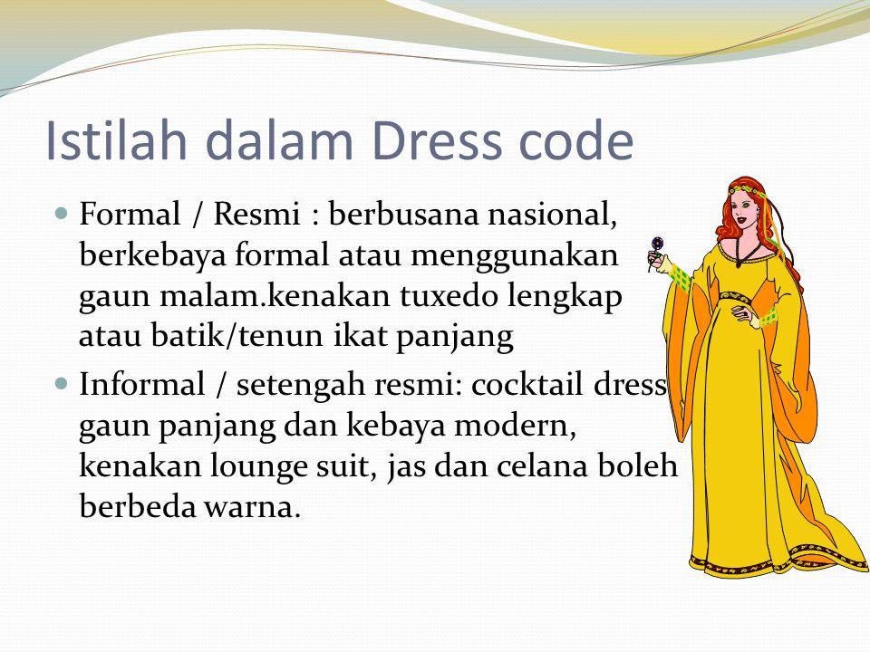Istilah dalam Dress code