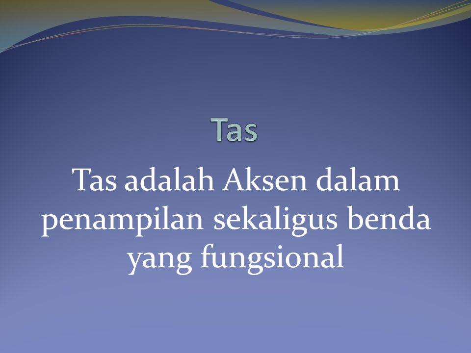 Tas adalah Aksen dalam penampilan sekaligus benda yang fungsional