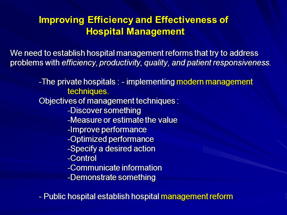 Improving Efficiency and Effectiveness of