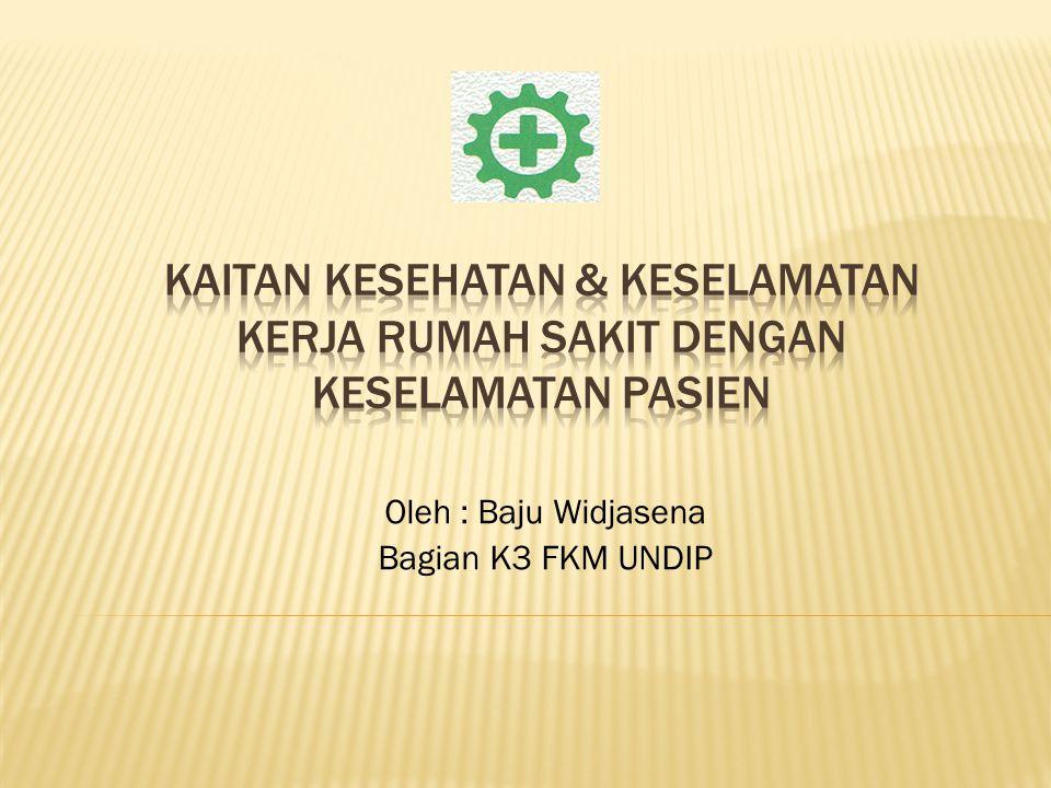 Oleh : Baju Widjasena Bagian K3 FKM UNDIP