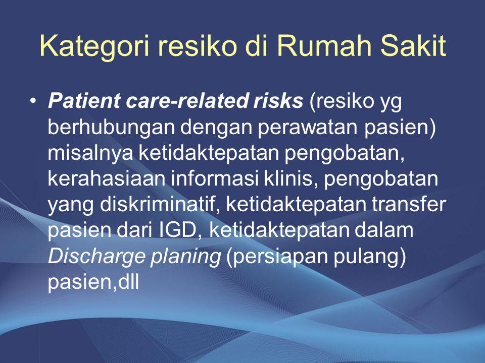 Kategori resiko di Rumah Sakit