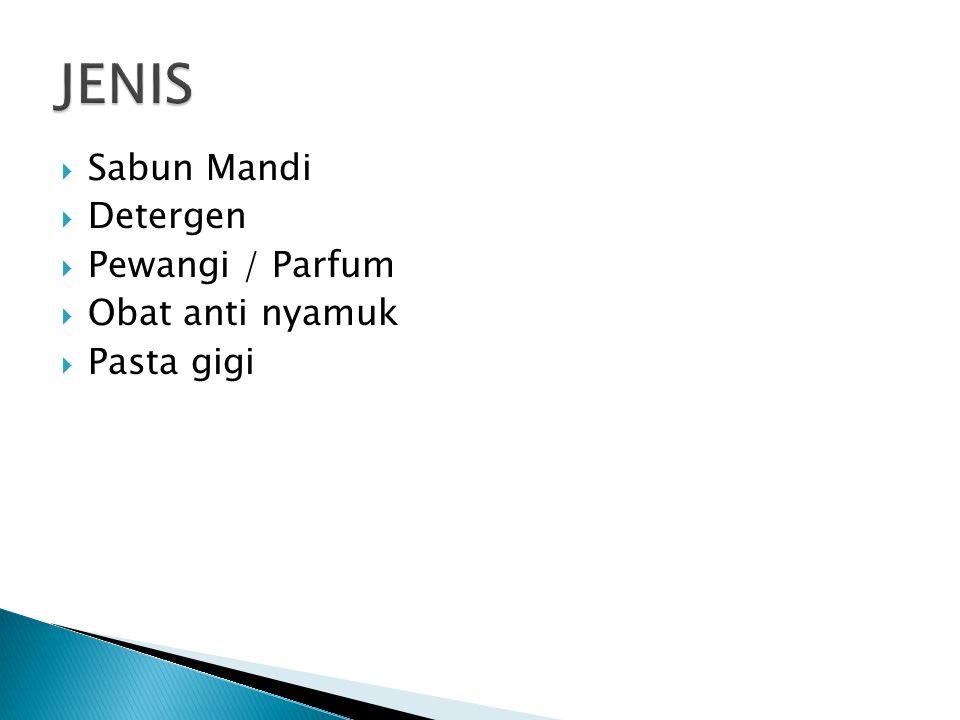 JENIS Sabun Mandi Detergen Pewangi / Parfum Obat anti nyamuk