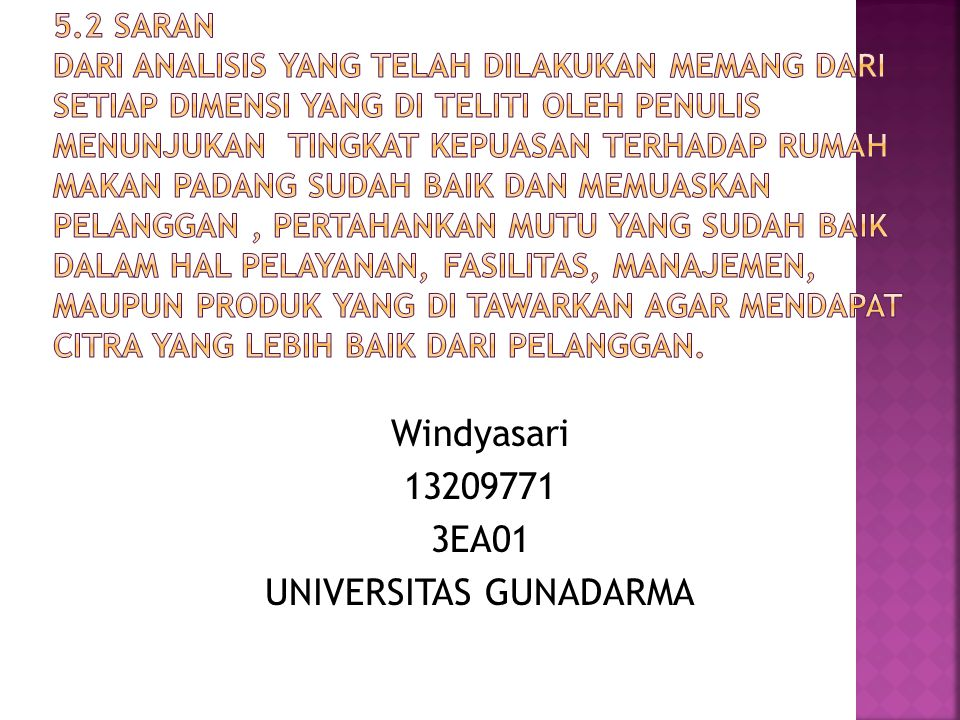 Windyasari 13209771 3EA01 UNIVERSITAS GUNADARMA