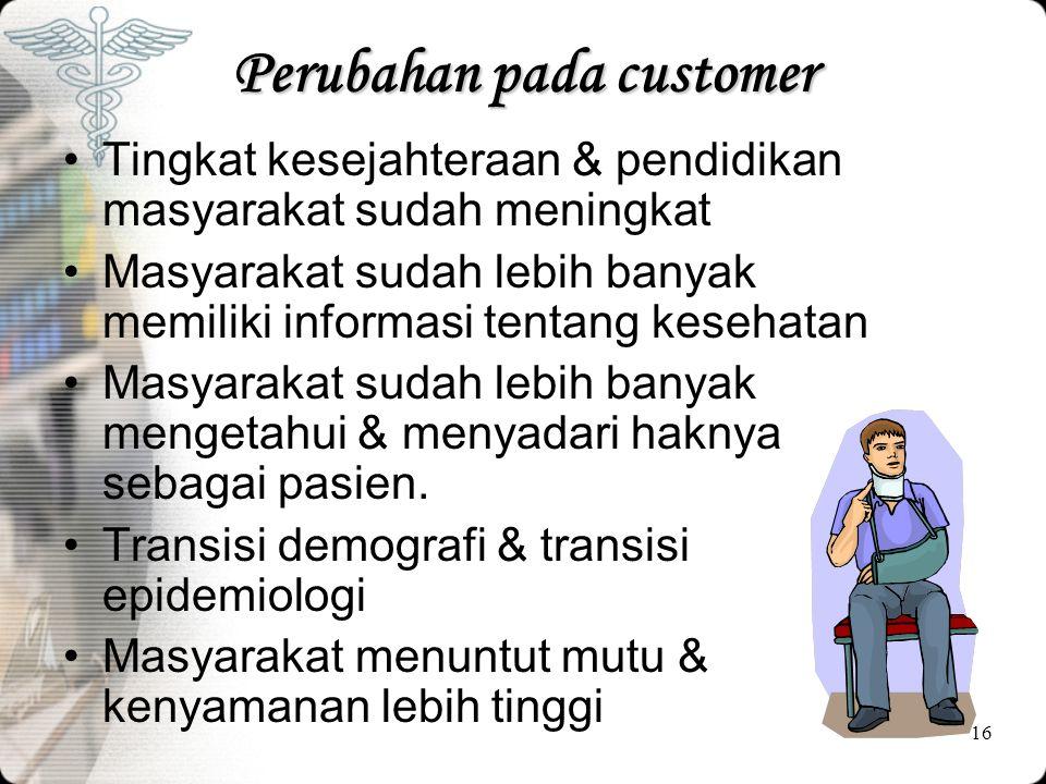 Perubahan pada customer