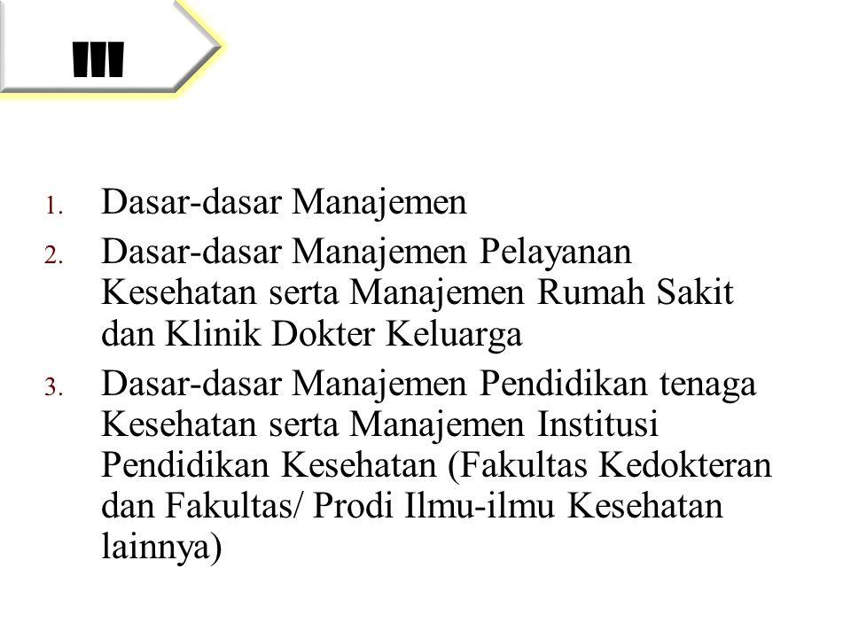 III Dasar-dasar Manajemen