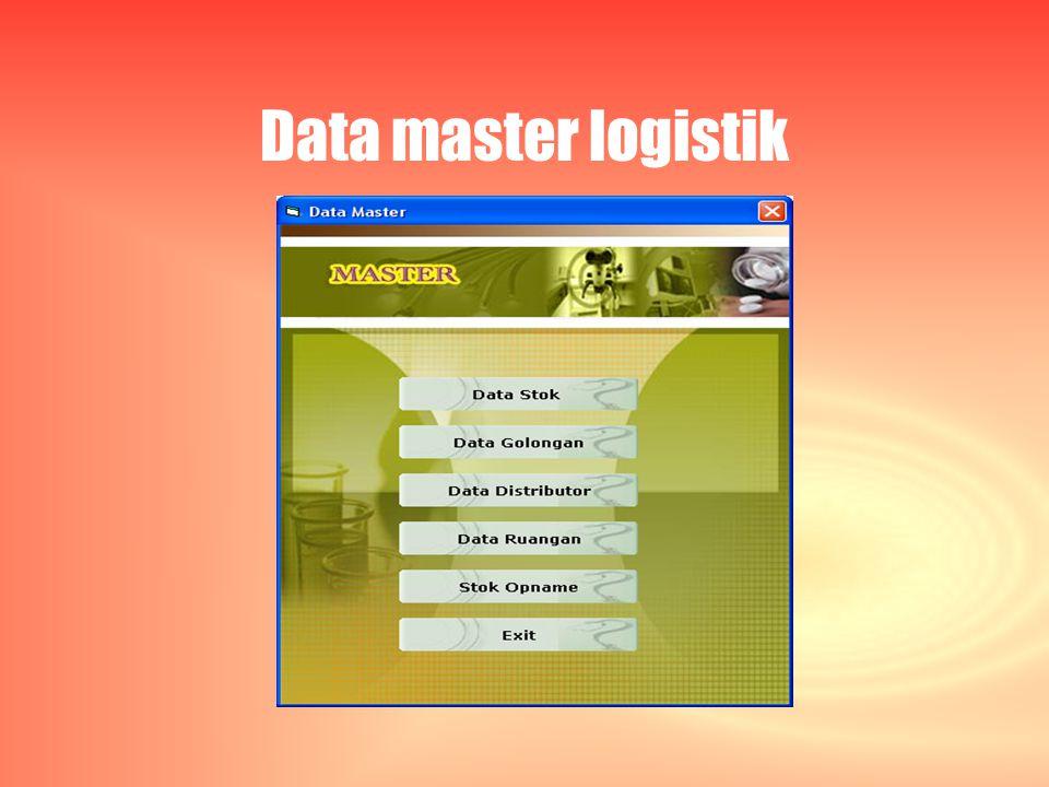 Data master logistik