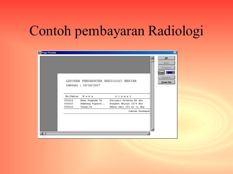 Contoh pembayaran Radiologi