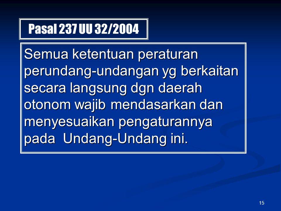 Pasal 237 UU 32/2004