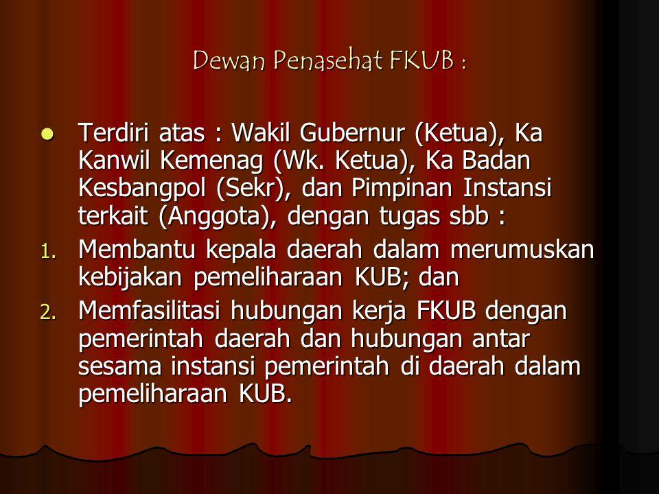 Dewan Penasehat FKUB :