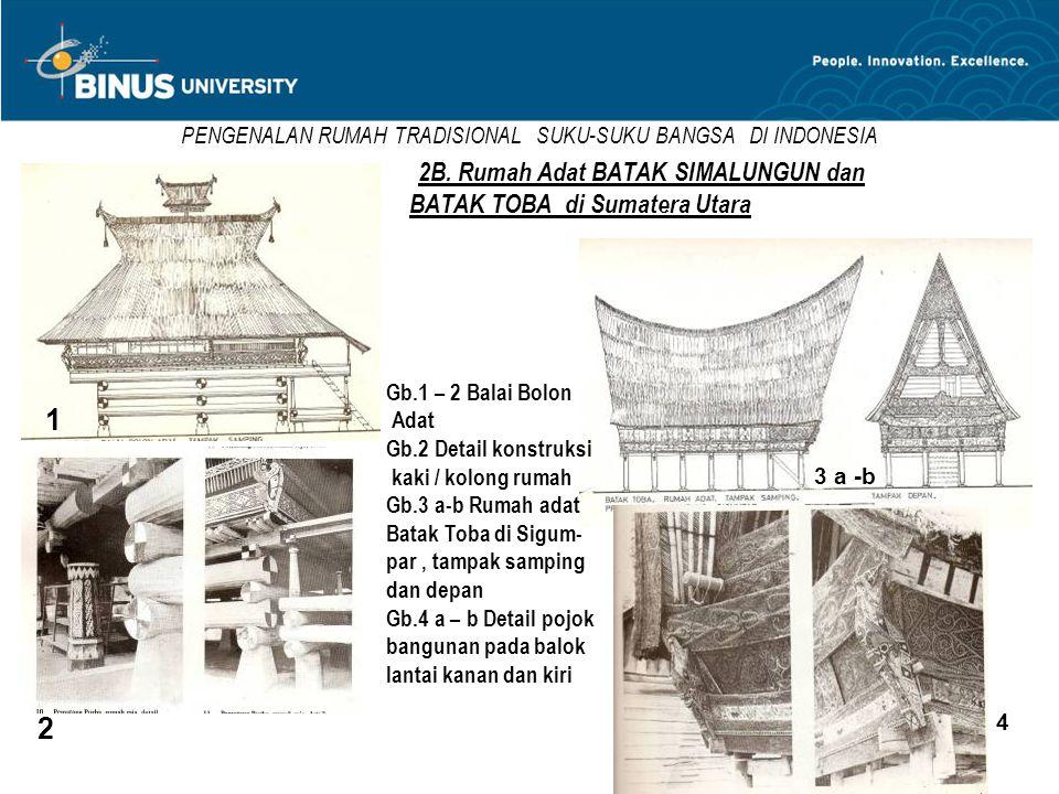 PENGENALAN RUMAH TRADISIONAL SUKU-SUKU BANGSA DI INDONESIA