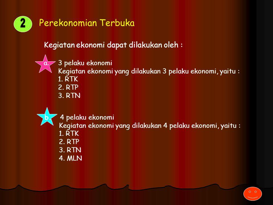 2 Perekonomian Terbuka Kegiatan ekonomi dapat dilakukan oleh :