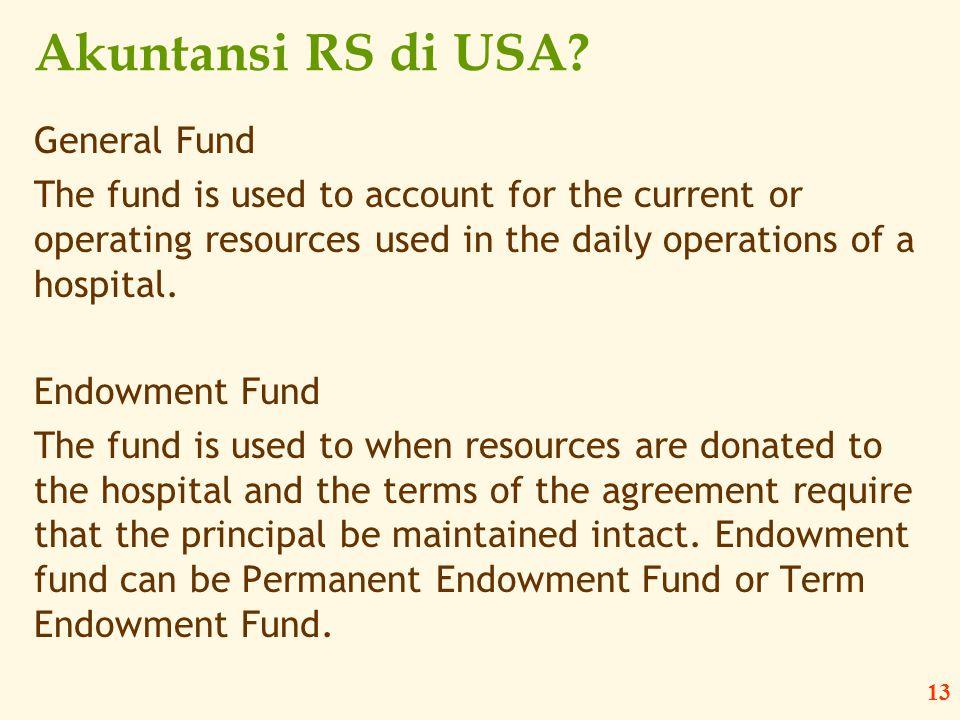 Akuntansi RS di USA General Fund