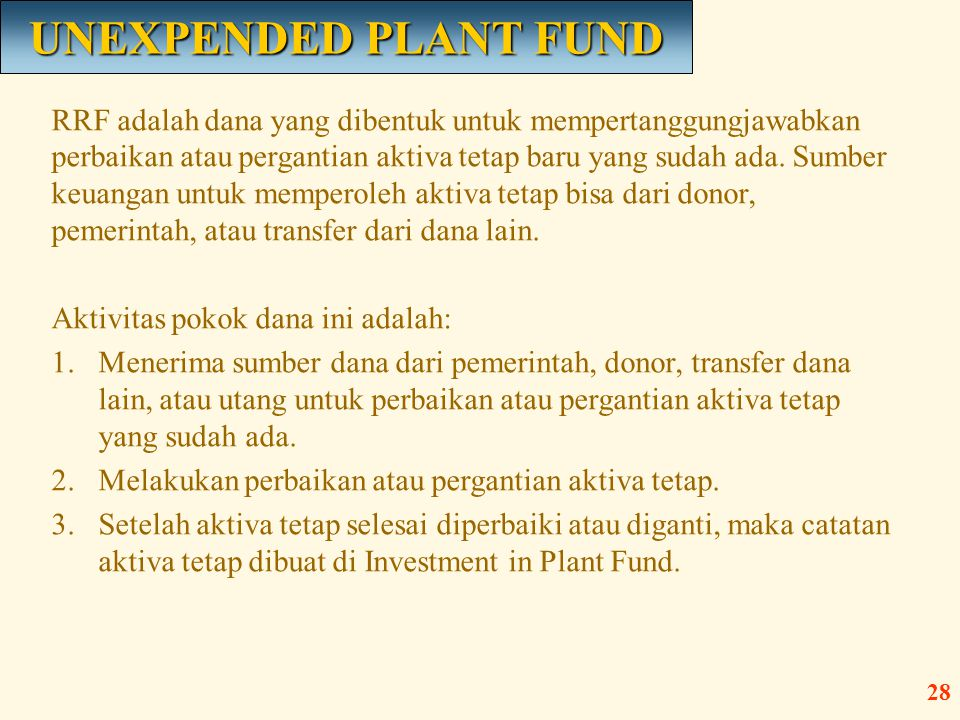 UNEXPENDED PLANT FUND