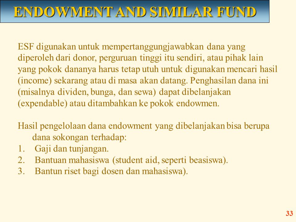 ENDOWMENT AND SIMILAR FUND
