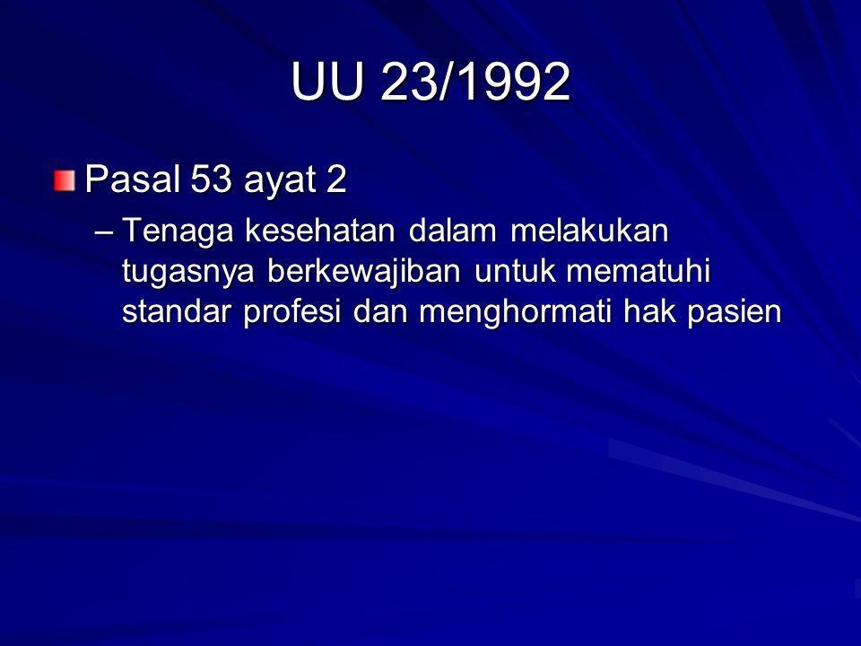 UU 23/1992 Pasal 53 ayat 2.