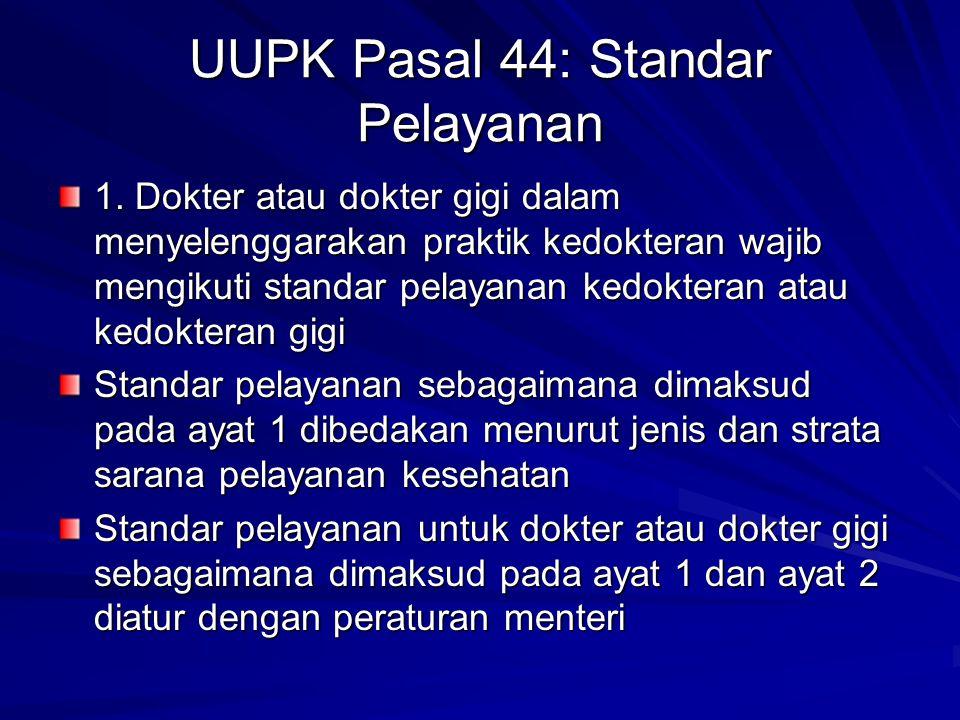 UUPK Pasal 44: Standar Pelayanan