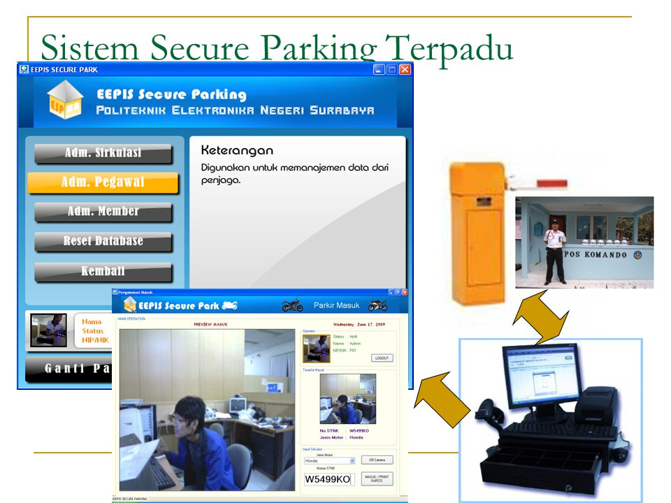 Sistem Secure Parking Terpadu