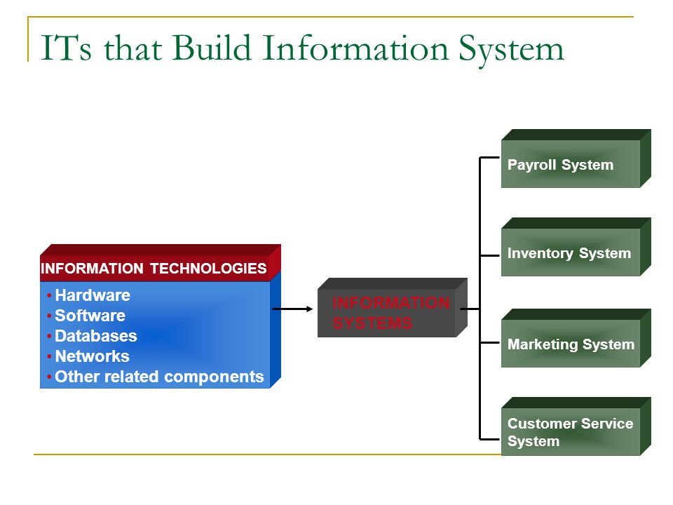ITs that Build Information System