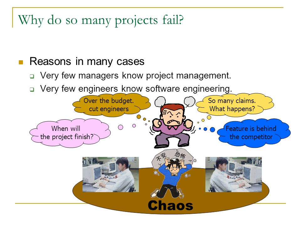 Why do so many projects fail