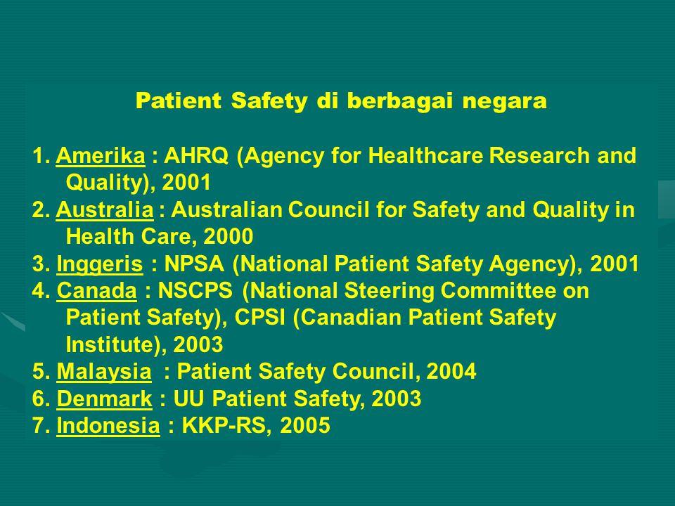 Patient Safety di berbagai negara