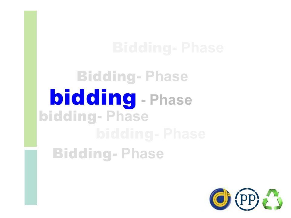 bidding - Phase Bidding- Phase Bidding- Phase bidding- Phase