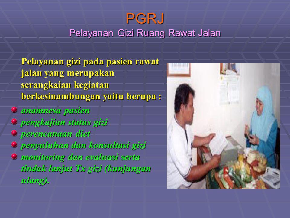 PGRJ Pelayanan Gizi Ruang Rawat Jalan