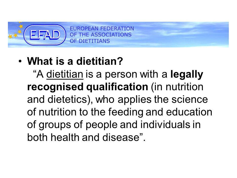 What is a dietitian.