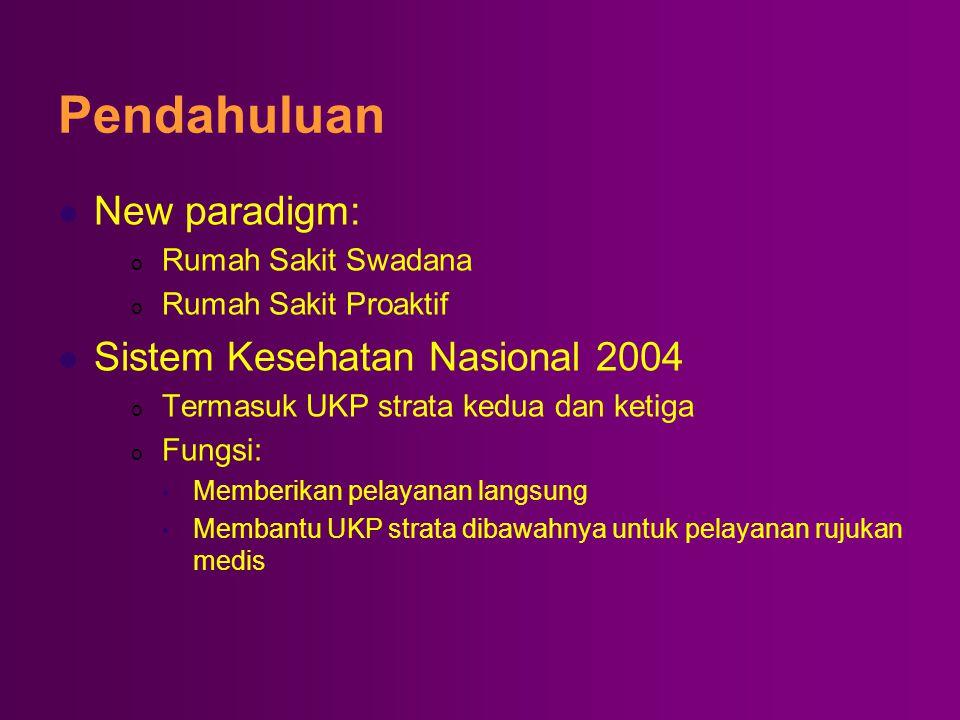 Pendahuluan New paradigm: Sistem Kesehatan Nasional 2004