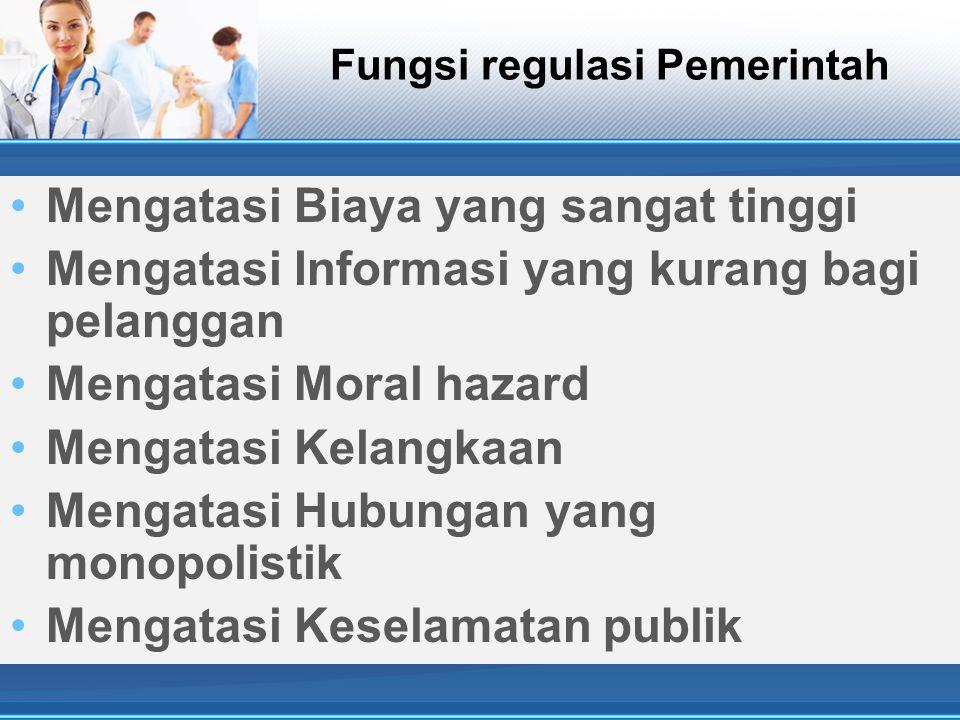 Fungsi regulasi Pemerintah