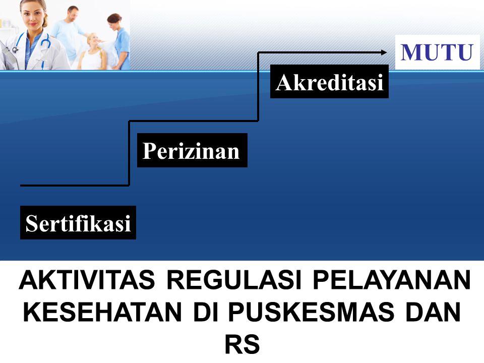 AKTIVITAS REGULASI PELAYANAN KESEHATAN DI PUSKESMAS DAN RS