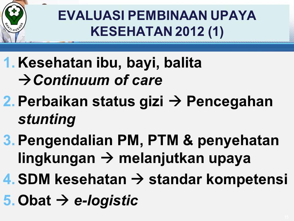 EVALUASI PEMBINAAN UPAYA KESEHATAN 2012 (1)