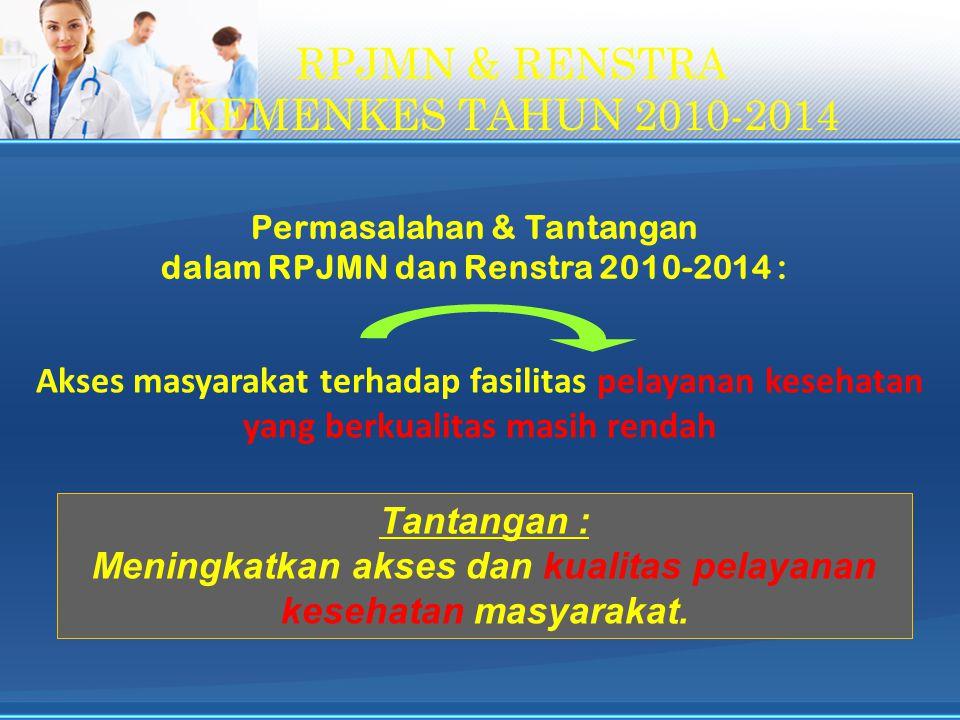 RPJMN & RENSTRA KEMENKES TAHUN 2010-2014