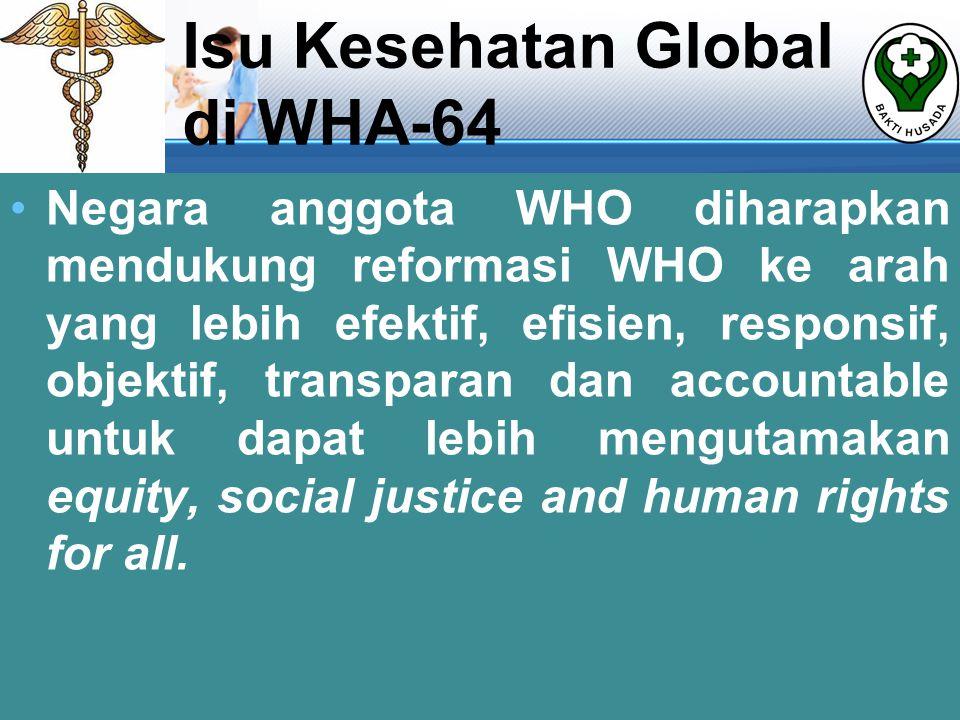 Isu Kesehatan Global di WHA-64