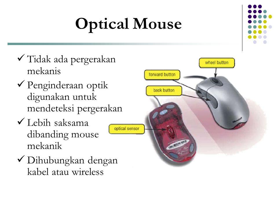 Optical Mouse Tidak ada pergerakan mekanis