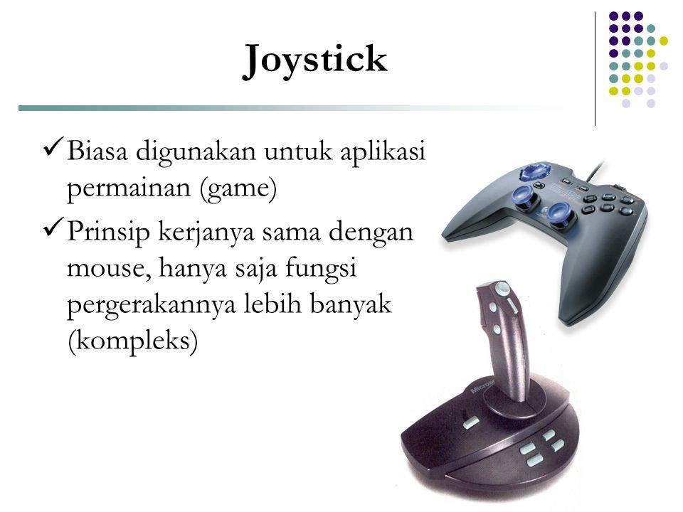 Joystick Biasa digunakan untuk aplikasi permainan (game)