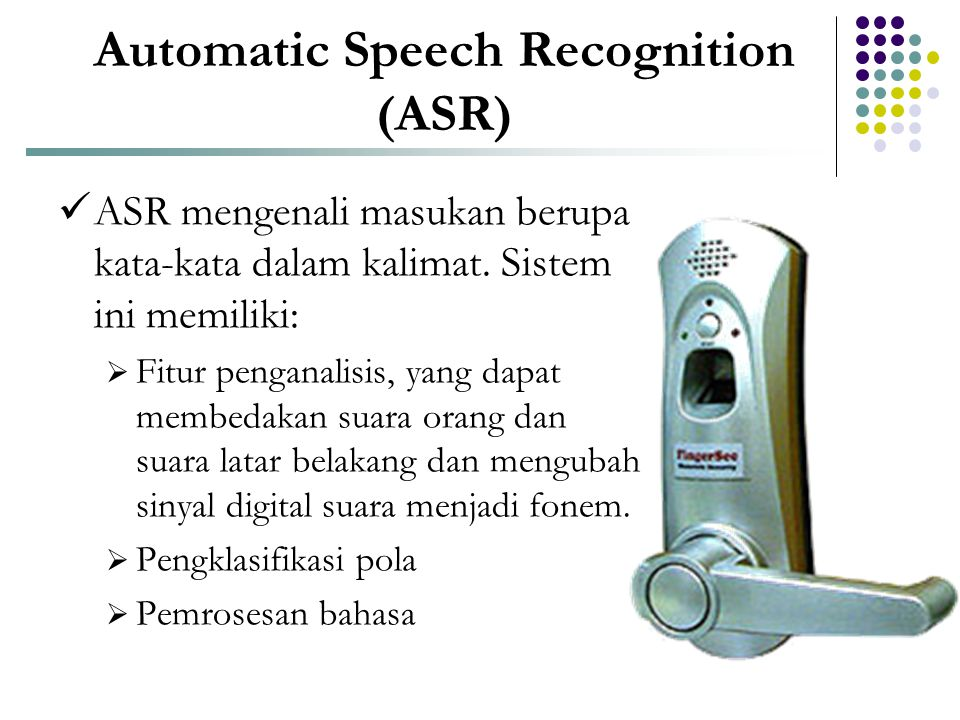 Automatic Speech Recognition (ASR)