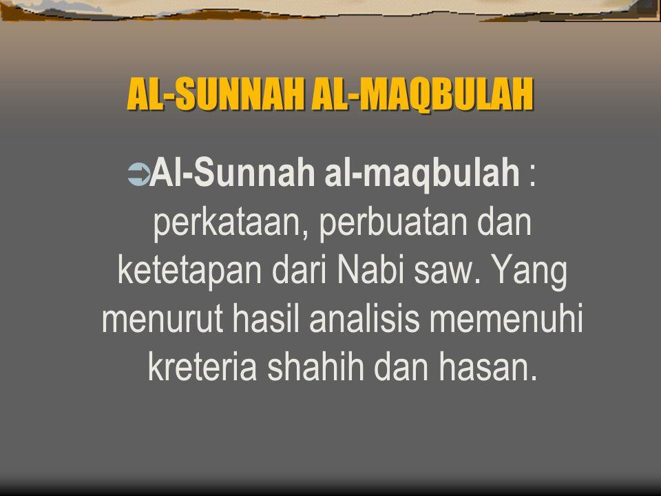 AL-SUNNAH AL-MAQBULAH