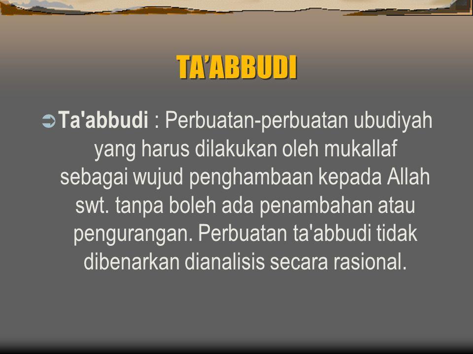 TA'ABBUDI