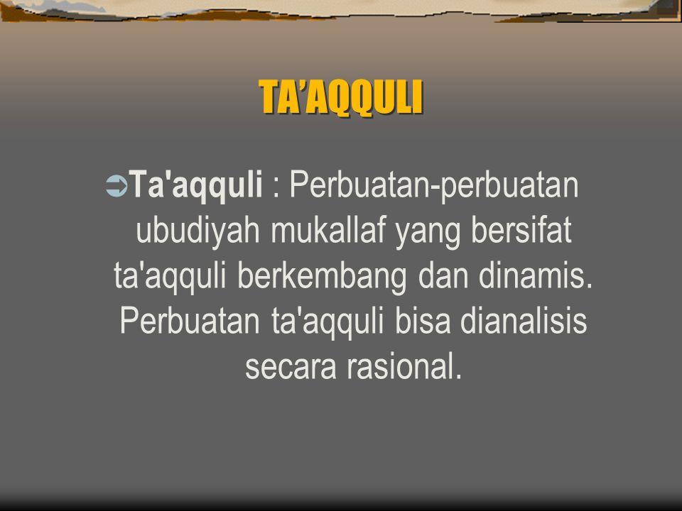 TA'AQQULI