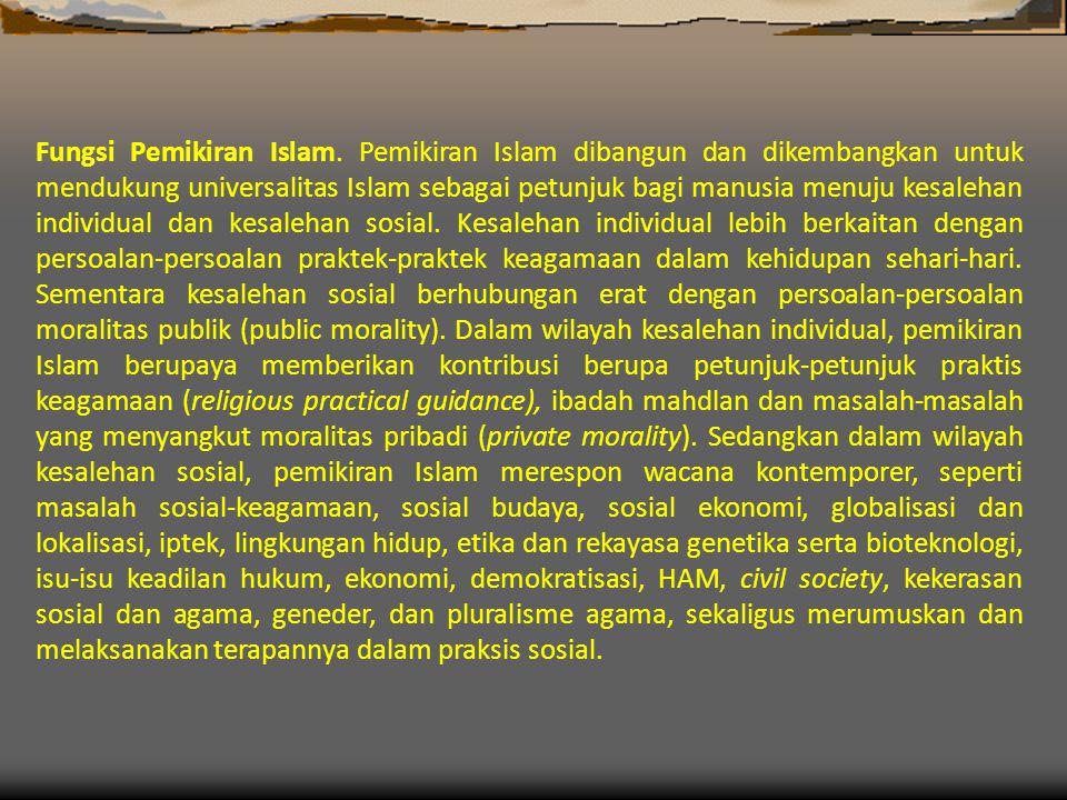 Fungsi Pemikiran Islam