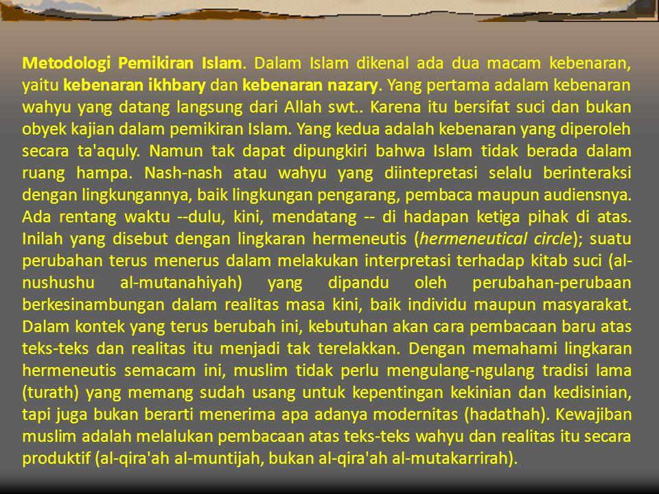 Metodologi Pemikiran Islam