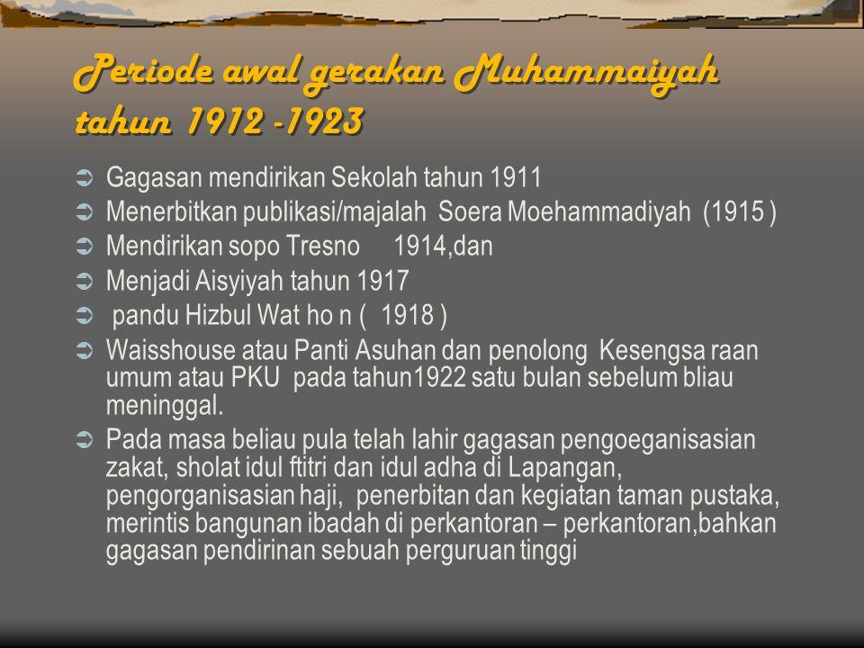 Periode awal gerakan Muhammaiyah tahun 1912 -1923